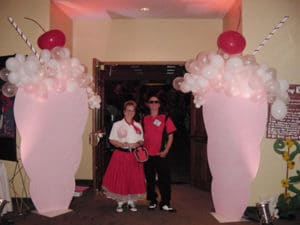 50's themed event entrance