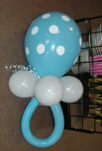 Balloon pacifiers are always a hit at baby showers