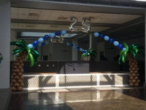 Balloon palm trees