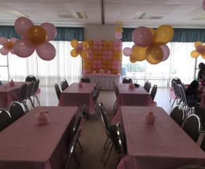 Gold and pink baby shower