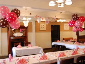 Pink and brown baby shower