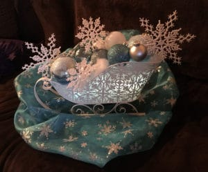 Winter Wonderland centerpiece sleighs