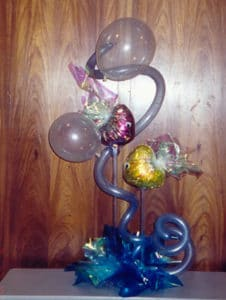 Under The Sea themed balloon centerpiece for corporate event birthday party